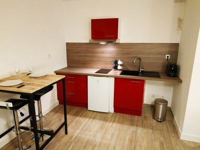 Photo for Superb new studio near the train station with private underground parking