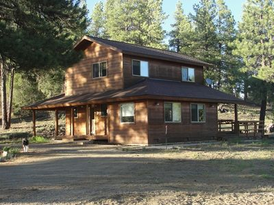 Photo for Quiet Pet Friendly Cabin on 3 Acres, 5 Mins to Town-35 Mins to Skiing