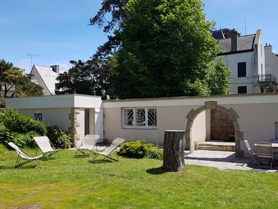 Photo for House in a beautiful pine garden, 100m from 2 beaches, in St Lunaire