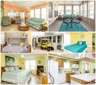 Photo for Golf cart, wifi, indoor & outdoor pools, blocks from beach w/ private parking!