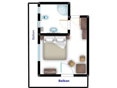 Photo for Double room Widdersberg with shower / WC, balcony - Rieding, country house