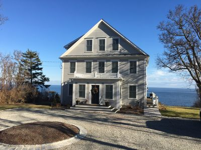 Photo for Cliff side home directly on Cape Cod Bay with private beach