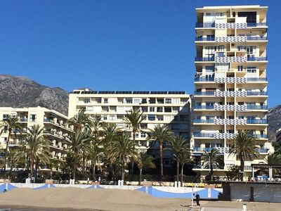 Photo for Skol Marbella beachfront central with views and WIFI
