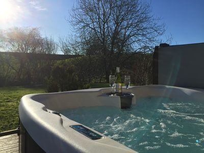 Photo for Outstanding Holiday home on Golf course with amazing views and hot tub
