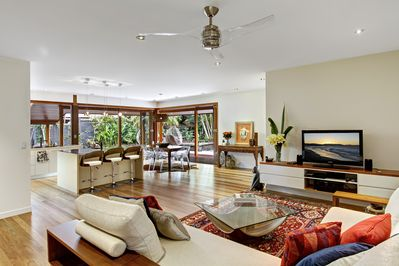 the light filled living areas