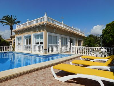 Photo for Fabulous 4 bedroom 4 bathroom detached Beach villa located in heart of Cabo Roig