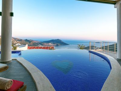Photo for Luxurious 3 Bedroom with Secluded Pool and Panoramic Sea Views