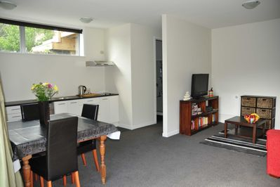 From front door: Kitchen, Lounge SKYTV