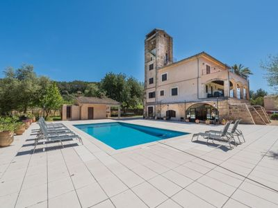 Photo for 7 bedroom Villa, sleeps 12 in Selva with Pool, Air Con and WiFi