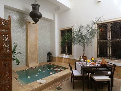 Photo for Riad Ethnique, exclusive rental, pool, wifi, in the center of the medina.