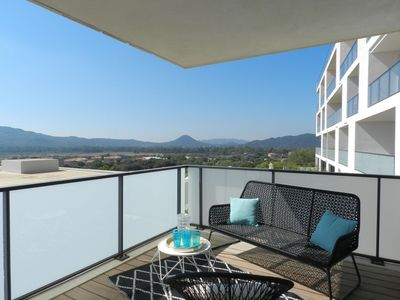 Photo for Lovely apartment for 6 guests with pool, A/C, WIFI, TV, balcony and parking