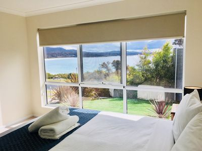 Photo for Balmoral Apartment Binalong Bay located directly across the road from the beach