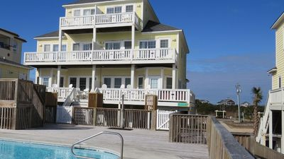 Photo for Oceanfront 5 BR Townhouse - Pool, Private Hot Tub, and Beach!
