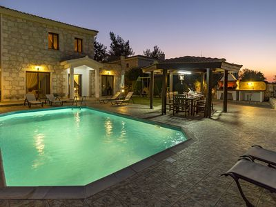 Photo for Agios Haralambos -  A Modern Stone Built villa that sleeps 6 guests  in 3 bedrooms