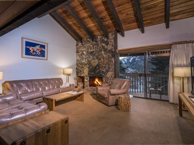 Photo for Ski-in/ski-out from this family getaway w/ shared pool & hot tub
