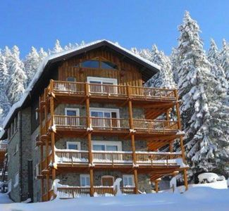 Photo for Arc 1600 Large luxury apartment Superb view in chalet edge tracks. 5 Hammam