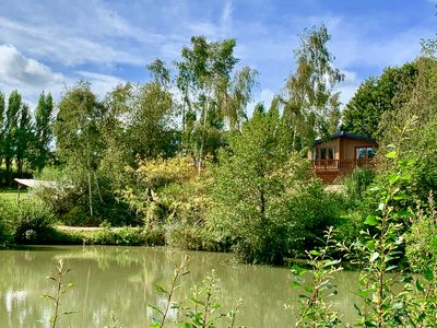 Photo for Stunning Lake side Lodge, sleeps 4, 3 miles from the golden sands of Ryde.