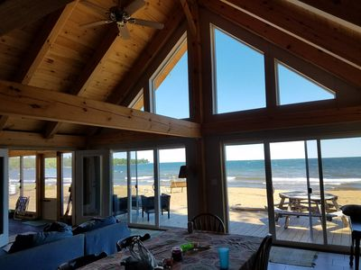 Photo for Beach house on sandy bay of Lake Superior