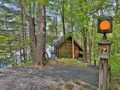 Photo for 3 Bedroom Log Cabin, Private Lake Front, Perfect Getaway from it All Location