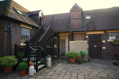 Courtyard entrance to Briar and Hornbeam Suites