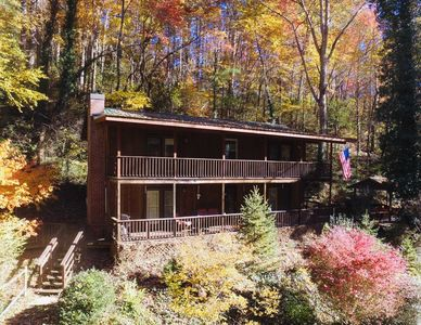 Photo for Beautiful Large 4 Bedroom Mountain Home w/Pond, Creek, WIFI, Sleeps 8, Private