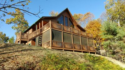 Photo for Gorgeous Cabin With Long Range Views