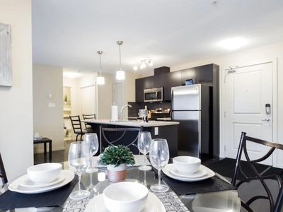 Photo for Windermere 2 Bedroom/2 Bathroom Luxury Condo with Free Heated Underground Parking!