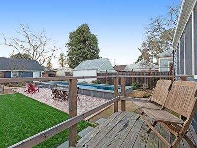 Photo for Dog-friendly home w/ private lap pool & enclosed backyard - walk downtown!