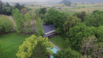 Aerial View of the expansive property & grounds. The > sign means its a video!
