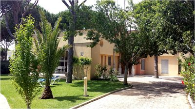 Photo for Stunning Villa, 450m From Beach, Private Garden, Large Pool, Wifi, AirCon