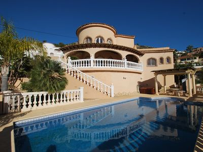 Photo for Villa near the beach and villa with private pool and sea views, internet
