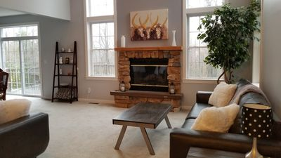 Photo for Discover the beauty of Poconos in this tranquil  4 bedroom home