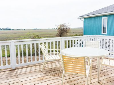 Photo for Pet-friendly home with spectacular panoramic views of the salt water marsh