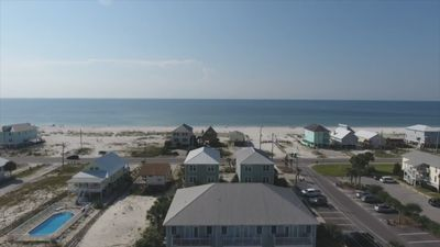 BIRDS EYE VIEW OF JUST HOW CLOSE YOU REALLY ARE TO THE BEACH!!