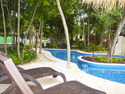 Photo for 4 BR home in Puerto Morelos  Residencial Palma Real A Gated, Community with pool
