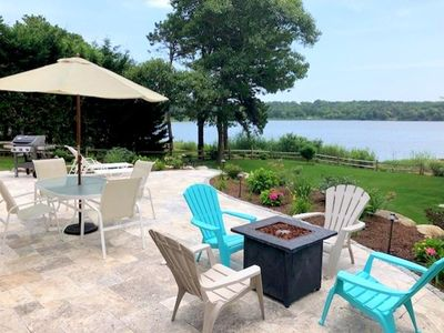 Photo for Small DOGS considered! SERENE VIEWS FROM THIS WATERFRONT with DOCK! BASS RIVER/DINAHS POND!