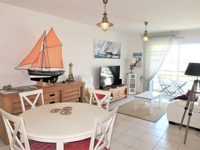 Photo for Beautiful apartment 4*, small sea view in TREGASTEL