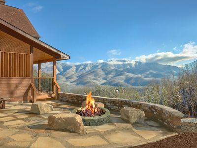 Photo for Enjoy Incredible Mountain Views from Your Private Luxury Cabin