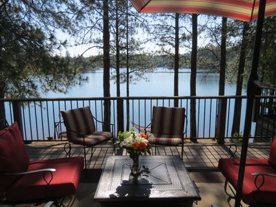 Photo for Lovely 4 Bedroom Lakefront, Steps from Scenic Gold Country Lake, Open All Year!