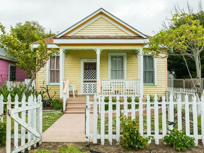 Photo for NEW LISTING! Dog-friendly cottage with fenced backyard and outdoor shower!
