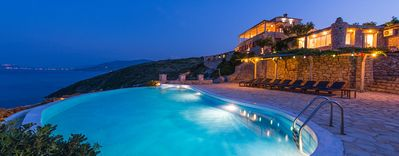 Photo for Luxury Stone House, Breathtaking Sea Views, Infinity Pool, Jacuzzi and Direct Access to the Sea!