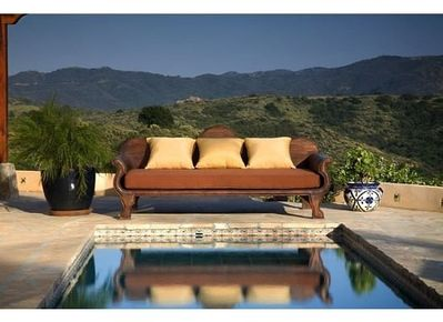Private pool and spa with unobstructed views of Topanga State Park