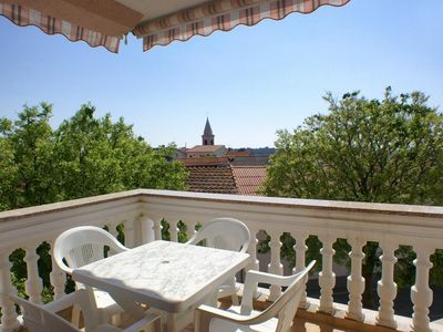 Photo for Two bedroom apartment with terrace and sea view Novalja, Pag (A-212-a)