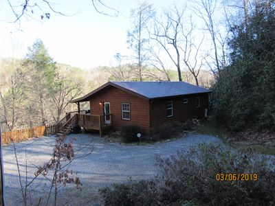 Photo for Cabin with River View near Harrah's Casino, between Cherokee & Bryson City!