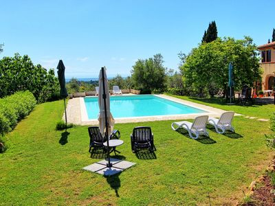 Photo for Beautiful  villa for 7 people with private pool, TV, pets allowed, panoramic view and parking