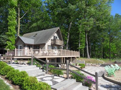 Photo for Stunning Waterfall Estate with Private Cove and Beach! Trees! Sunsets!