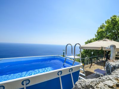 Photo for Splendid and comfortable house in Praiano with sea view and private pool