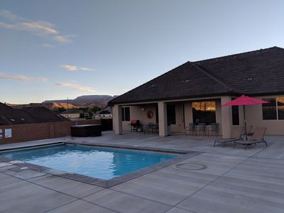 Photo for ZION Escape! Your own PRIVATE HOME with PRIVATE POOL and Hot Tub!