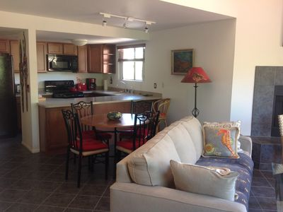 Photo for Bright, Cheerful, Mtn View Condo with cathedral ceilings & open floor plan
