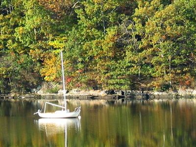 Early Autumn on the Niantic River...view from Guesthouse